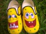 Sepatu Lukis Fransuper Spongebob